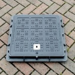 Lightweight Composite Manhole Cover 350 x 350mm Clear Opening Load Rated to B125 CC3535B125AN
