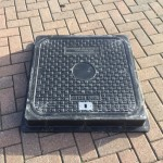 Lightweight Composite Manhole Cover 600 x 600mm Clear Opening Load rated D400  CM6060D400JM