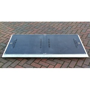 Modular Composite Manhole Cover and Frame 1420x670mm . 12.5 Ton Load Rated CM1500-750B125