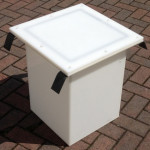 Sealed Drawpit Chamber 350x 350 x 500mm For use under non watertight cover DPC350-350-500LID