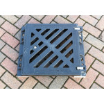 Composite Gully Grate and Frame 390 x 390mm Clear Opening  - Lockable. Rated D400 (40 ton) CG3939D400
