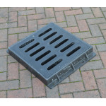 Composite Gully Grate & Frame 410 x 410mm Clear Opening. Rated D400 (40 Tons) CG4141D400