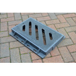 Composite Gully Grate & Frame 420 x 220mm Clear Opening. Rated D400 (40 Tons) CG4222D400