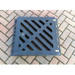 Composite Gully Grate and Frame 470 x 470mm Clear Opening  - Lockable. Rated D400 (40 Tons) CG4747D400