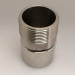 "Male Swaged Adapter 1 1/2"" Stainless Steel BSPT - MSA-0150B"