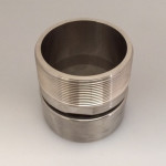 "Male Swaged Adapter 3"" Stainless Steel BSPT - MSA-0300B"